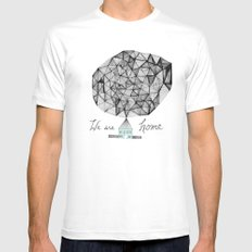 We are Home MEDIUM White Mens Fitted Tee
