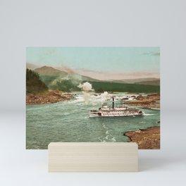 The Cascades Steamboat - Columbia River - 1901 Photochrom Mini Art Print