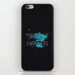 Knowledge Equals Power iPhone Skin