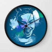 bjork Wall Clocks featuring Bjork by BIG Colours