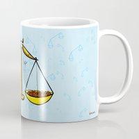 libra Mugs featuring Libra by Giuseppe Lentini