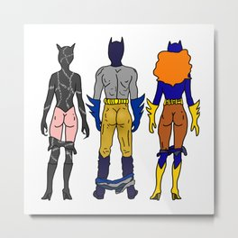 Superhero Butts Love 7 - Cat Bats Metal Print
