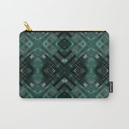 Black and green abstract pattern . Carry-All Pouch