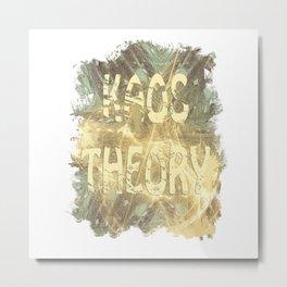 Kaos theory on sandy fractal Metal Print