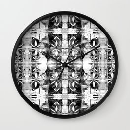 Stencil art in black and white Wall Clock