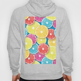 Citrus fruit slices pop art  Hoody