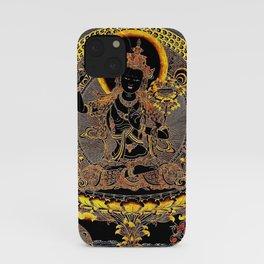 Manjushree Black Gold Thangka iPhone Case