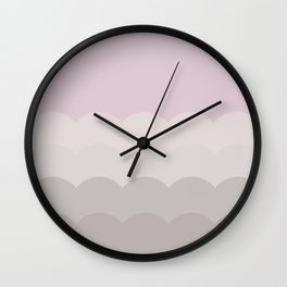 BROOKE PINK - Mid Century Modern Abstract Pattern Graphic Design Wall Clock