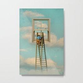 Window cleaner in the sky 02 Metal Print