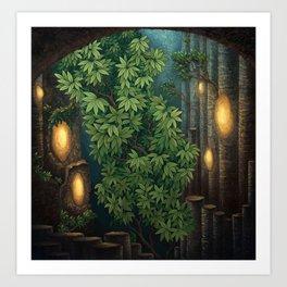 Rain room Art Print