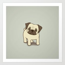Pug Puppy Illustration Art Print