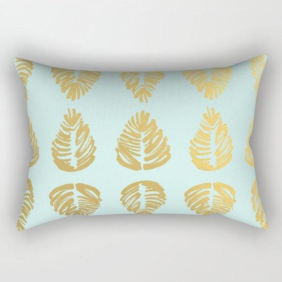 Gold Palms Deluxe Rectangular Pillow