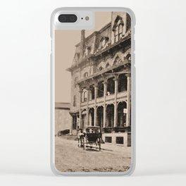 Burleigh House 1913 (sepia) Clear iPhone Case