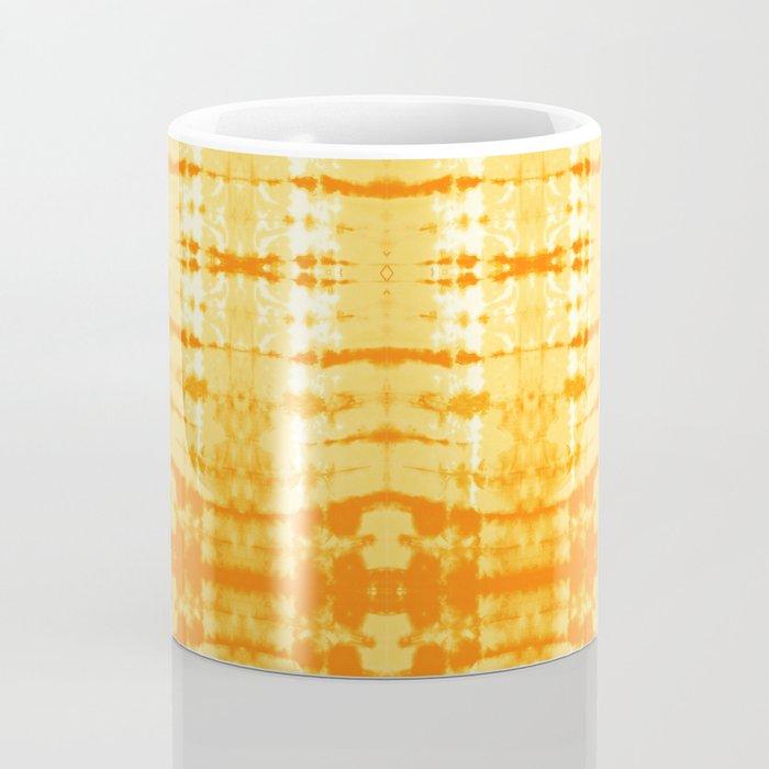 Satin Shibori Yellow Coffee Mug
