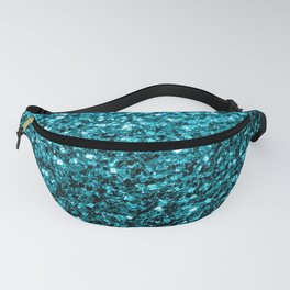 Beautiful Aqua blue glitter sparkles Fanny Pack