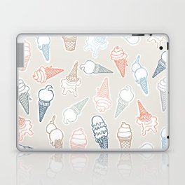 Colorful icecream for summertime Laptop & iPad Skin