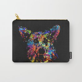 Colorful  Corgi Portrait Carry-All Pouch