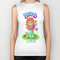 hippy Biker Tanks featuring Hippy Chick by Melissa Morrison