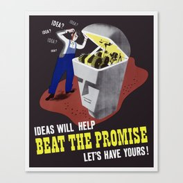 Ideas Will Help Beat The Promise -- WWII Canvas Print