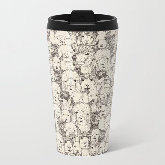 just alpacas natural Metal Travel Mug