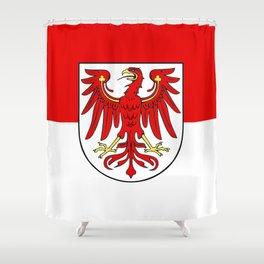 Flag of brandenburg Shower Curtain
