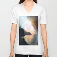 stay gold V-neck T-shirts featuring stay gold by Kiki collagist