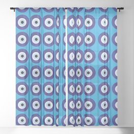 Evil Eye Sheer Curtain