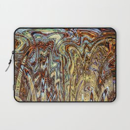 Scramble - Digital Abstract Expressionism Laptop Sleeve
