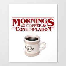 Stranger Things Coffee & Contemplation Canvas Print