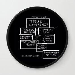 Motivating Others on True Leadership Wall Clock
