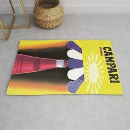 1960 Cordial Campari Italian Aperitif Advertising Poster Rug