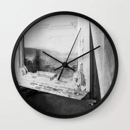 I am a visitor - A window in Tuscany Wall Clock