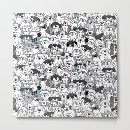 Aqua Dogs Metal Print