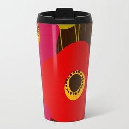 Red Poppy Flowers by Friztin Travel Mug