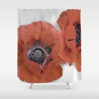 poppies Shower Curtains featuring Poppies by Elliott's Location Photography