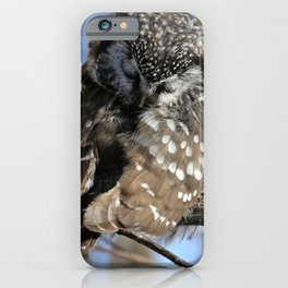 Resting her pretty eyes iPhone Case