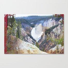 Yellowstone Falls - Artists Point Canvas Print