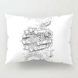 Jet Engine: Frank Whittle Turbojet Engine Patent Pillow Sham