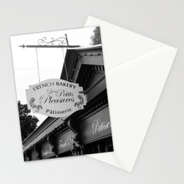 French Bakery Sign - Black and White Stationery Cards