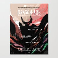 dragon age Canvas Prints featuring Dragon Age by W Song