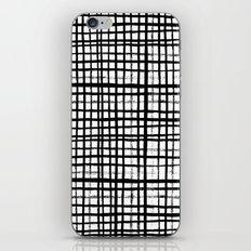 Essie - Grid, Black and White, BW, grid, square, paint, design, art iPhone & iPod Skin