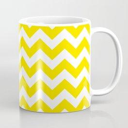 Golden Yellow Safari Chevron Coffee Mug