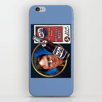 dwight schrute iPhone & iPod Skins featuring Dwight Schrute  |  Beet Cola Advertisement by Silvio Ledbetter