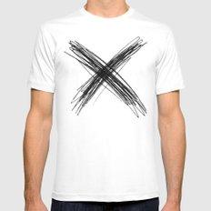 XS White MEDIUM Mens Fitted Tee