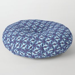Dolphins swimming Floor Pillow