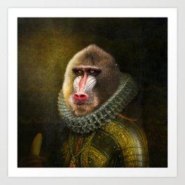 Portrait of Marquis de Mandrille Art Print
