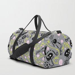 Skeletons in spring - grey - black Duffle Bag