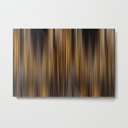 Elegant Gold Stripes Pattern Theater Cinema Curtain Background Metal Print