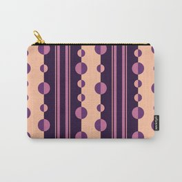 Circles and Stripes in Deep Purple and Pink Carry-All Pouch