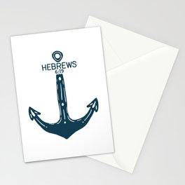 Hebrews Anchor Stationery Cards